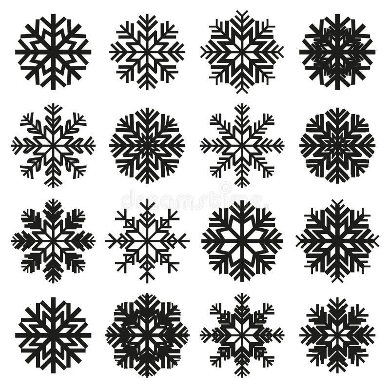 冰晶集合 向量例证