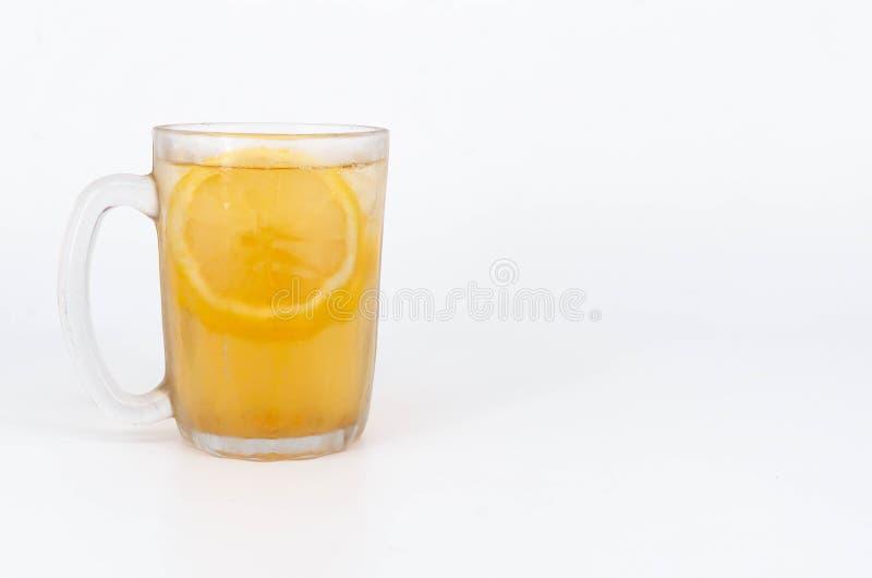 冰柠檬茶特写镜头 库存图片