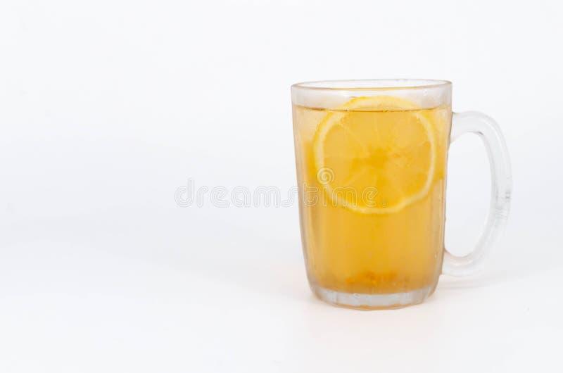 冰柠檬茶特写镜头 免版税图库摄影