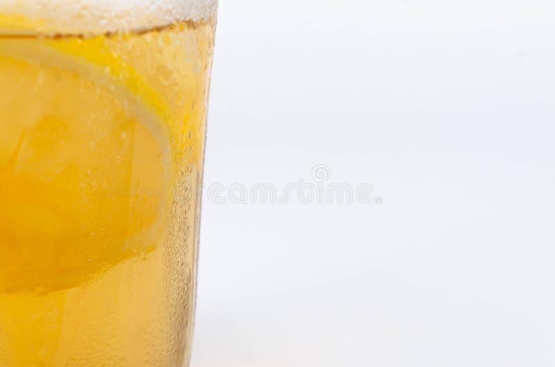 冰柠檬茶特写镜头 免版税库存图片