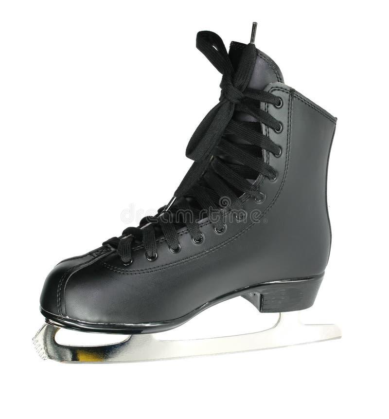 冰查出的冰鞋滑冰的白色 免版税库存照片