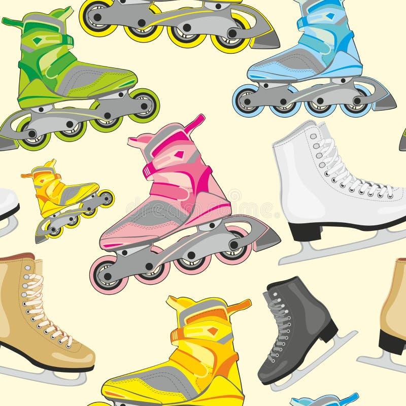 冰查出的溜冰鞋 库存例证