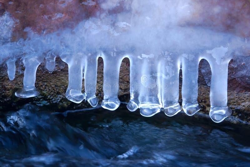 冰柱子 图库摄影
