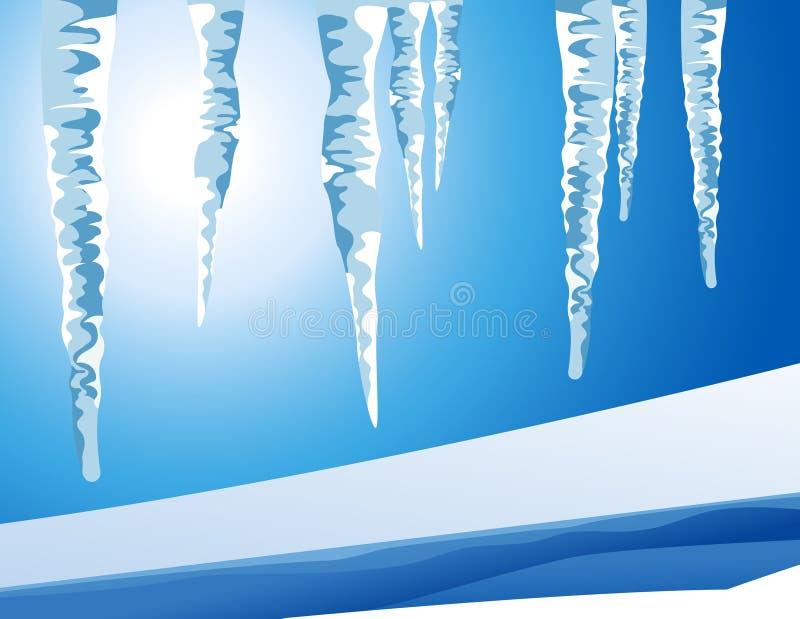 冰柱横向 向量例证