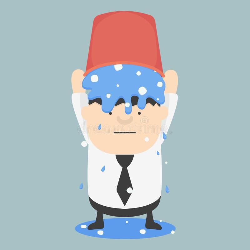 冰桶挑战企业油脂 皇族释放例证