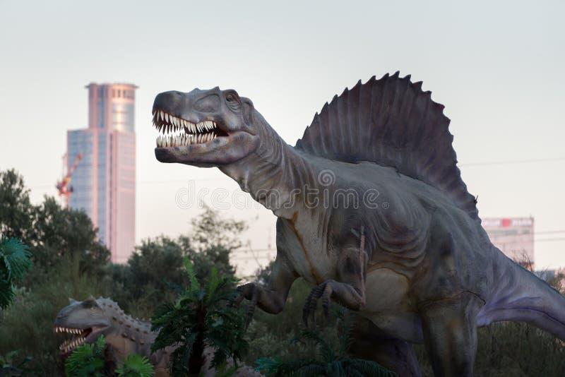 冰河世纪和恐龙陈列 免版税库存图片