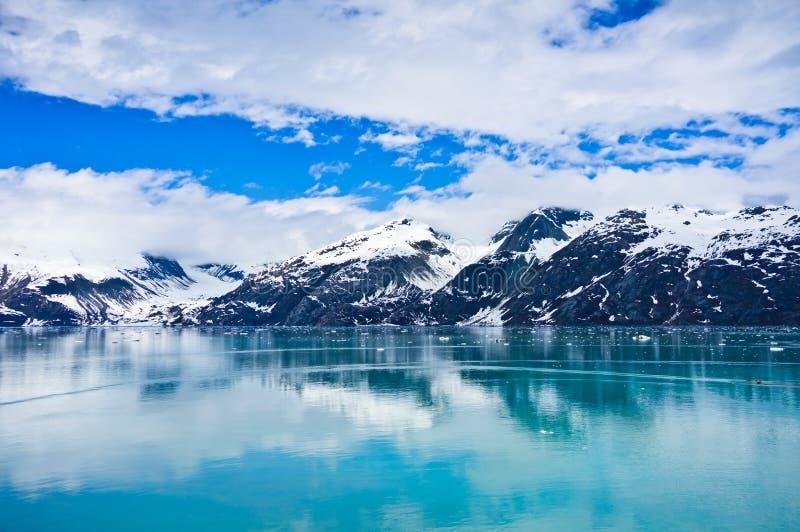 冰河海湾在阿拉斯加,美国 图库摄影