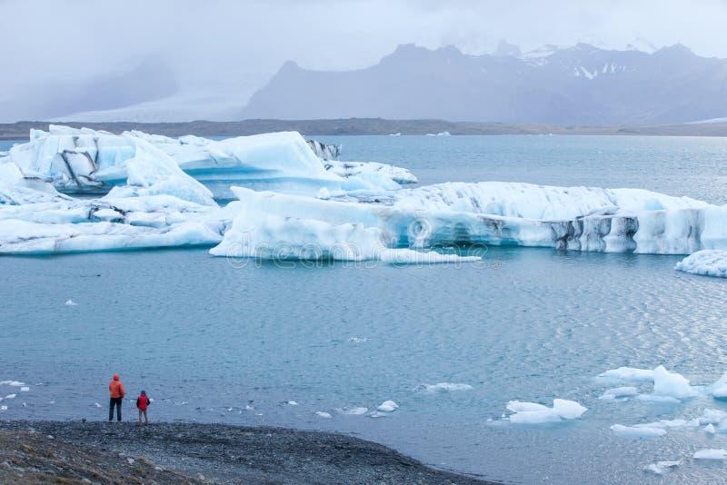 冰河湖-著名冰河盐水湖,南冰岛 免版税图库摄影