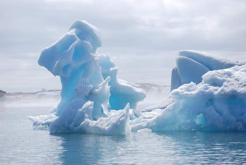 冰河盐水湖 免版税库存照片