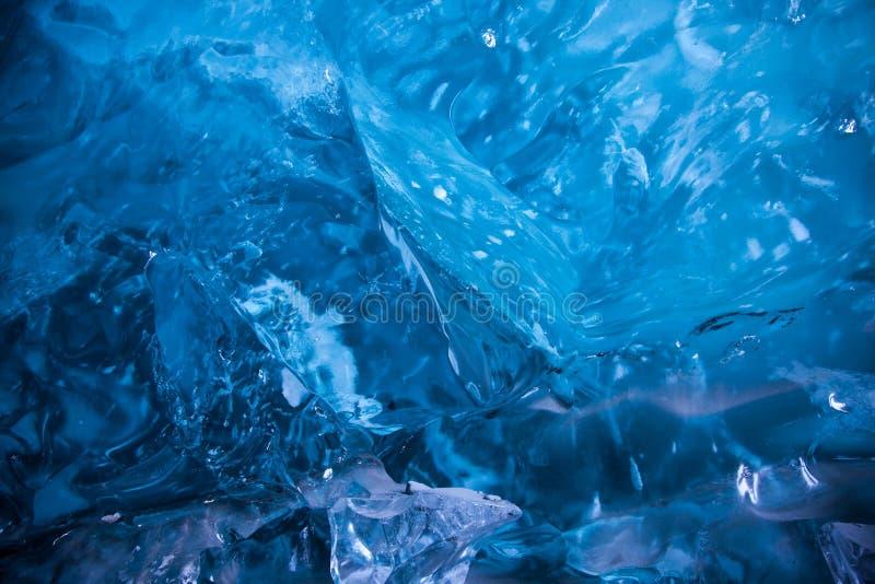 冰河蓝色冰 免版税图库摄影