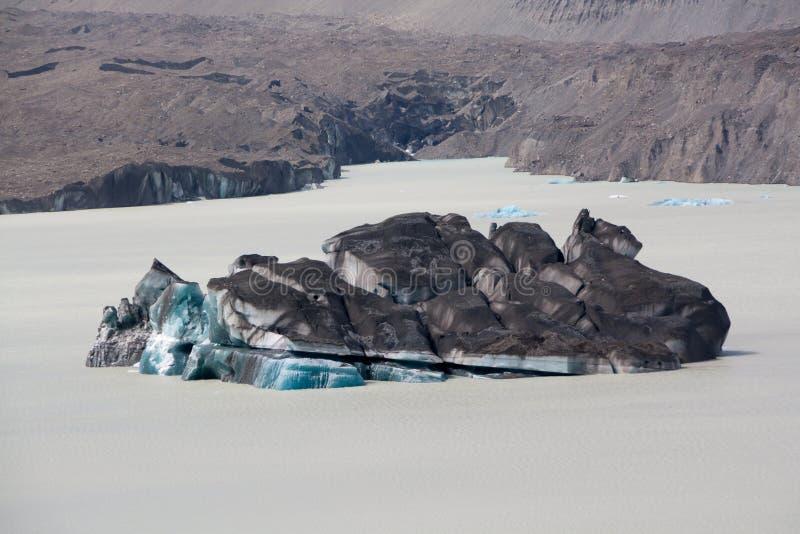 冰海岛 免版税库存图片