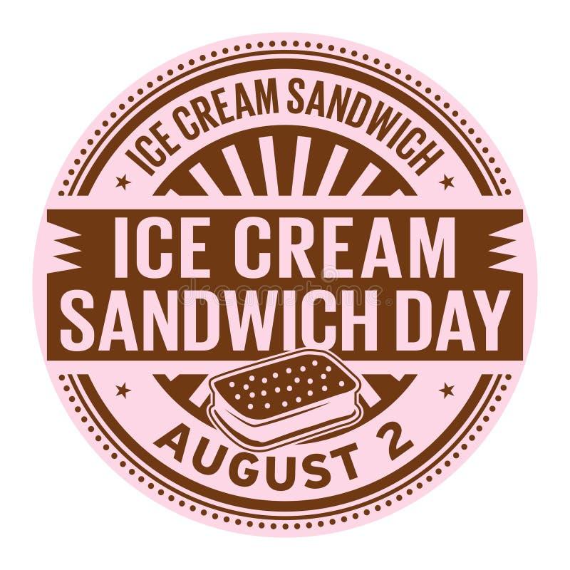 冰淇凌三明治天 库存例证