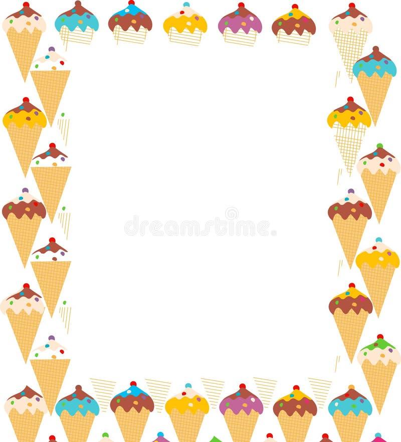 冰淇凌五颜六色的框架 免版税库存图片