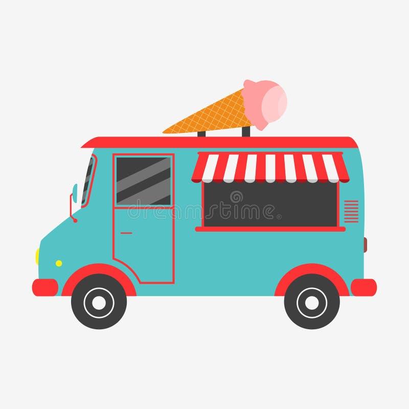 冰淇凌卡车 也corel凹道例证向量 库存例证
