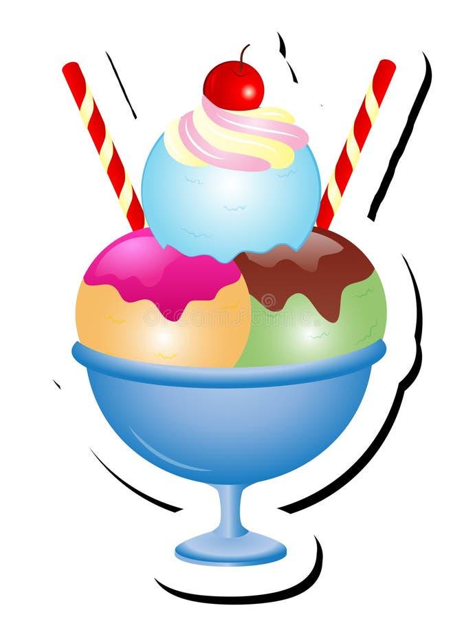 冰淇凌圣代冰淇淋传染媒介例证 向量例证