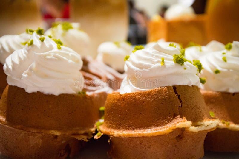 冰淇凌奶蛋烘饼 图库摄影