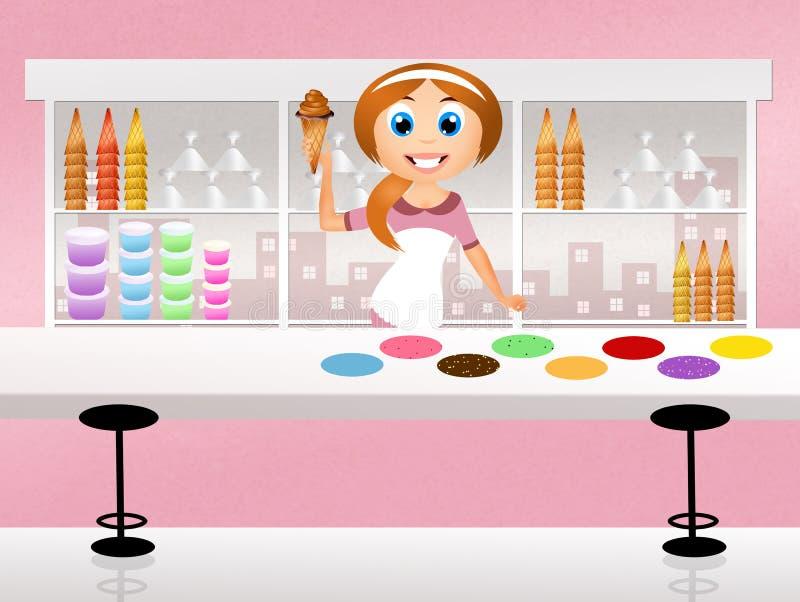 冰淇凌店 皇族释放例证