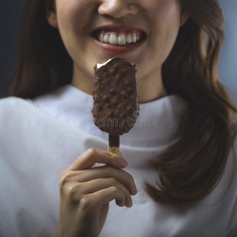 冰淇凌最好在镇里 免版税图库摄影