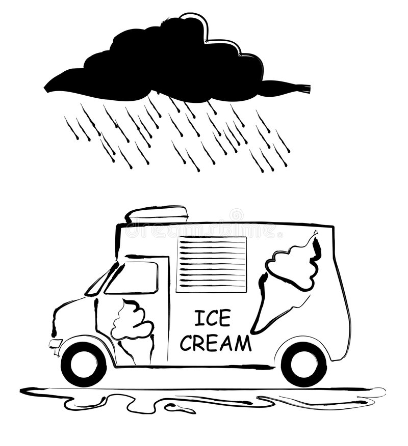 冰淇凌有篷货车 向量例证