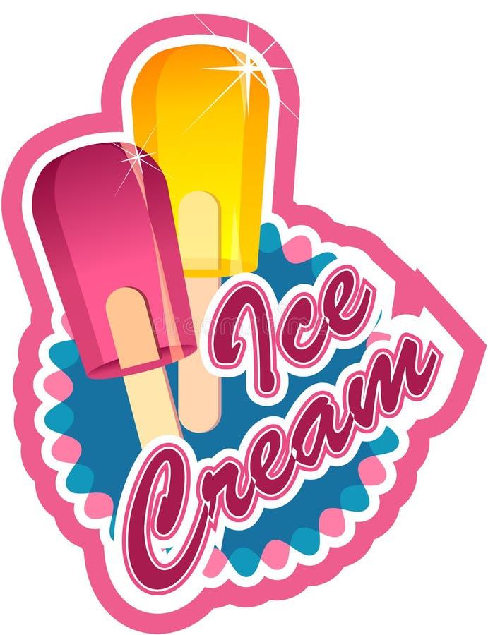 冰淇凌标签 皇族释放例证