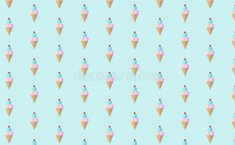 冰淇凌样式墙纸 免版税库存图片
