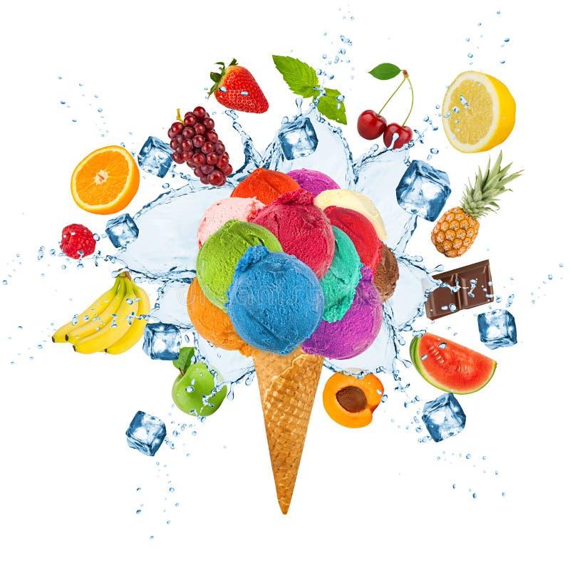 冰淇凌概念 图库摄影