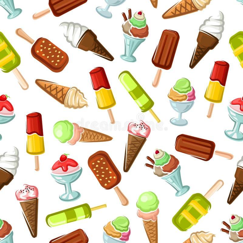 冰淇凌点心无缝的传染媒介样式 皇族释放例证