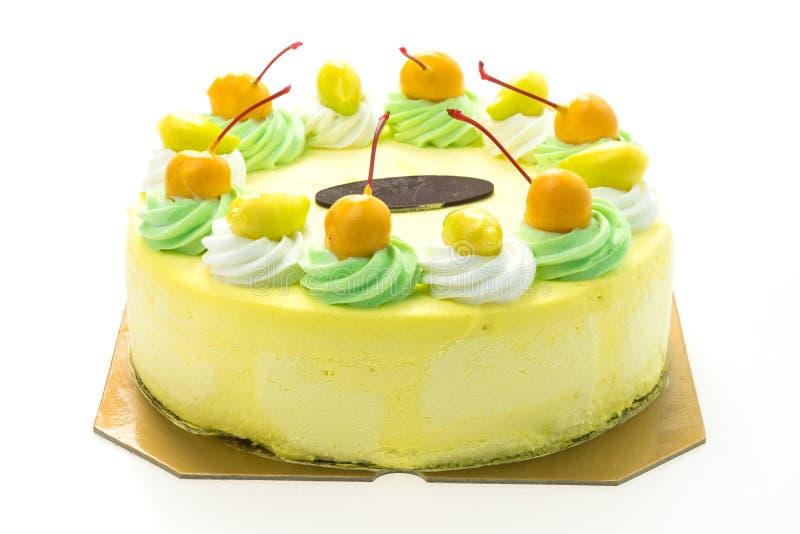 冰淇凌芒果蛋糕 免版税图库摄影