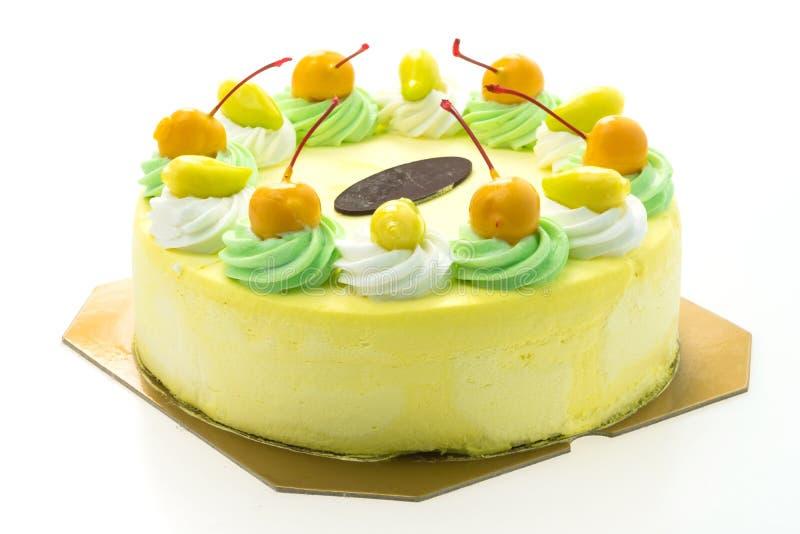 冰淇凌芒果蛋糕 库存照片