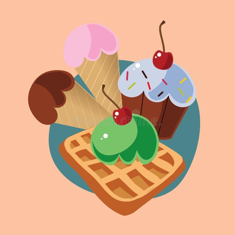 冰淇凌 库存例证