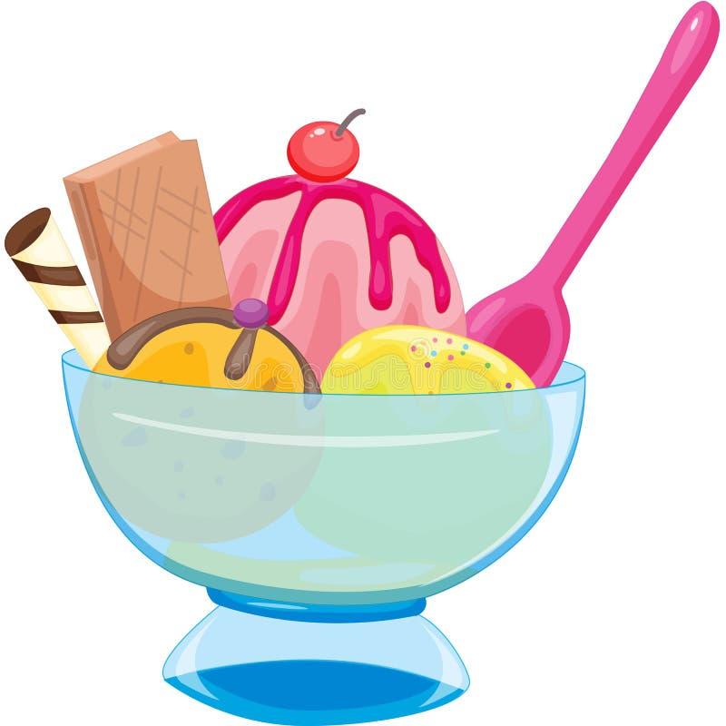 冰淇凌 向量例证