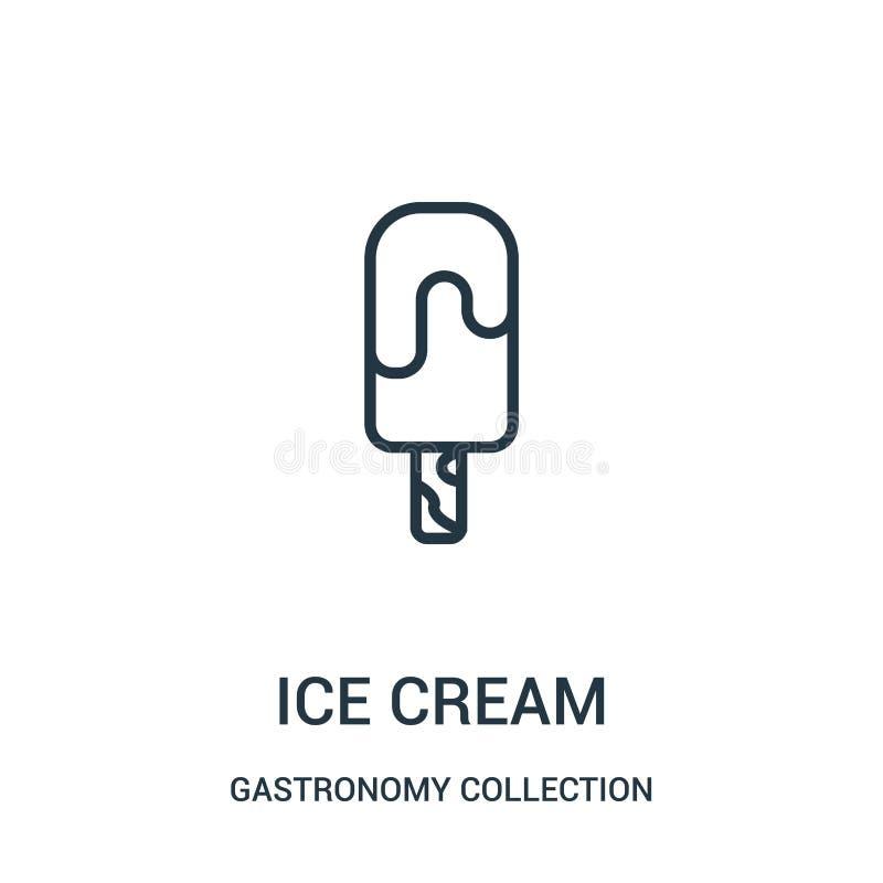 冰淇淋从美食术汇集汇集的象传染媒介 稀薄的线冰淇淋概述象传染媒介例证 皇族释放例证