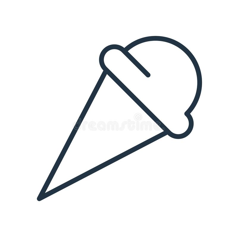 冰淇淋在白色背景隔绝的象传染媒介,冰淇淋标志 库存例证