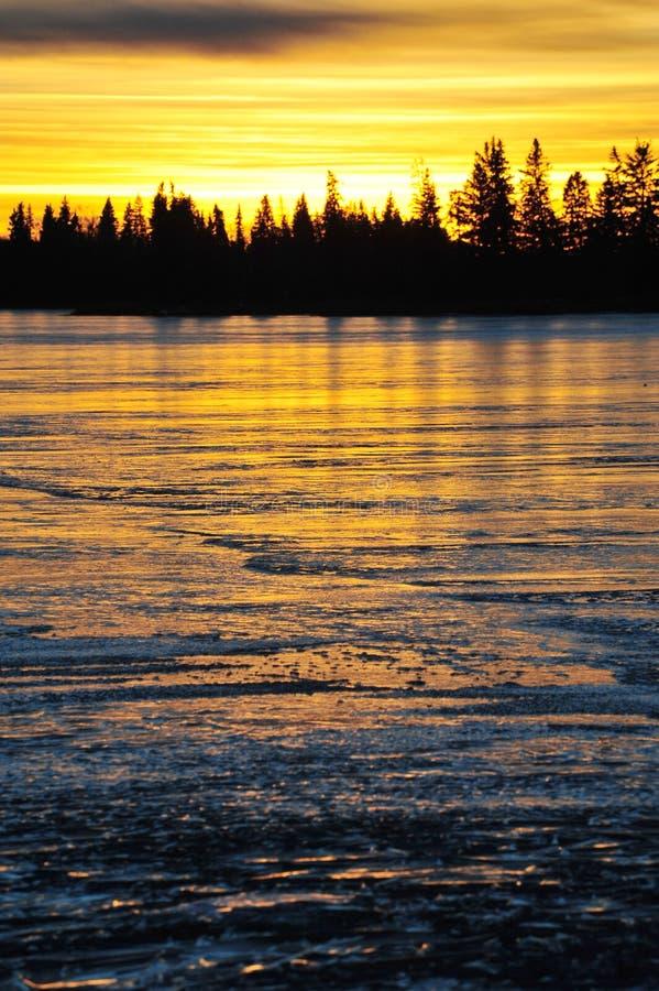 冰湖 免版税图库摄影
