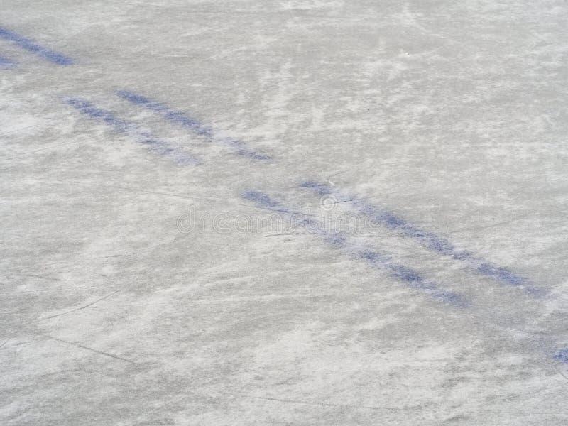 冰球场标号,冬季体育背景 免版税图库摄影