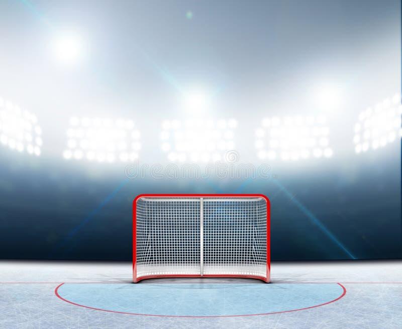 冰球目标在体育场内 皇族释放例证