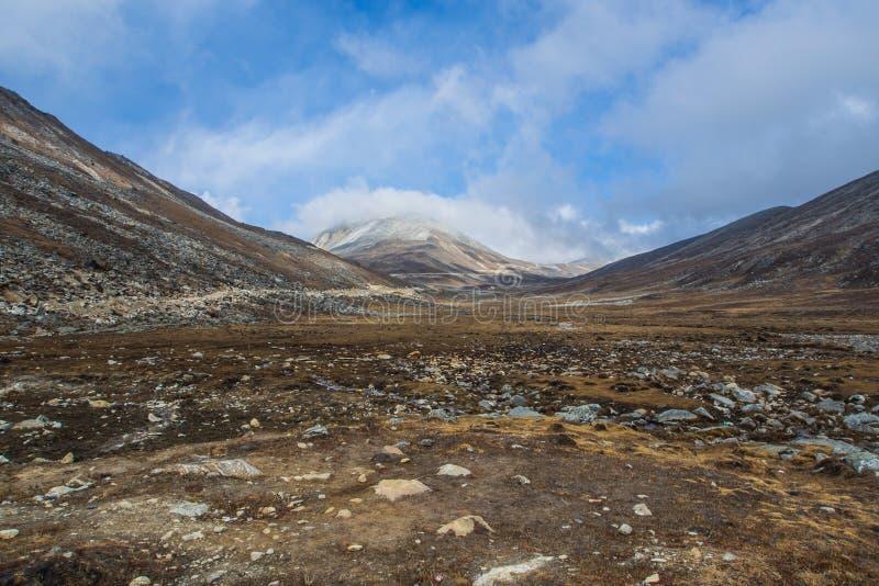 结冰的山 库存图片
