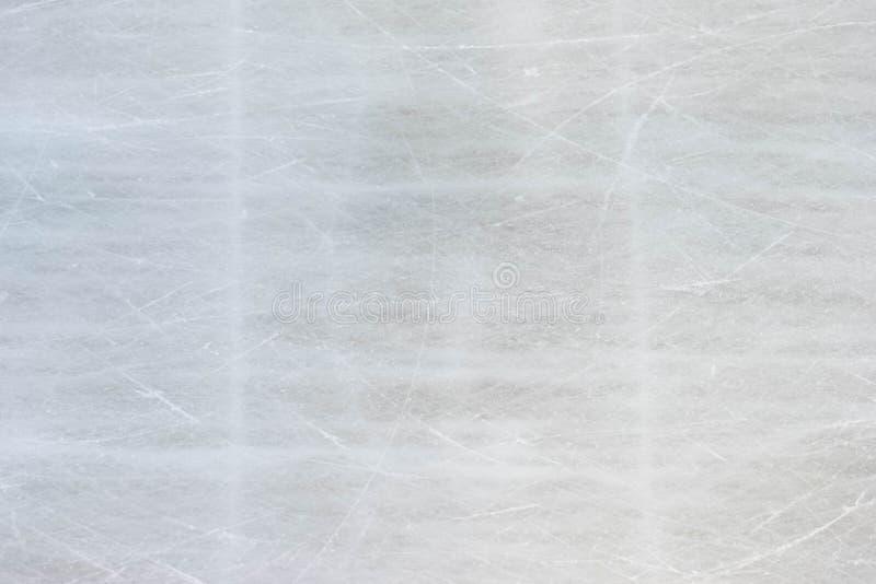 滑冰的溜冰场背景纹理以抓痕 免版税库存图片