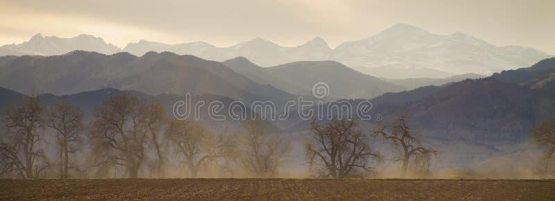 冰砾科罗拉多县分层堆积全景 免版税库存图片