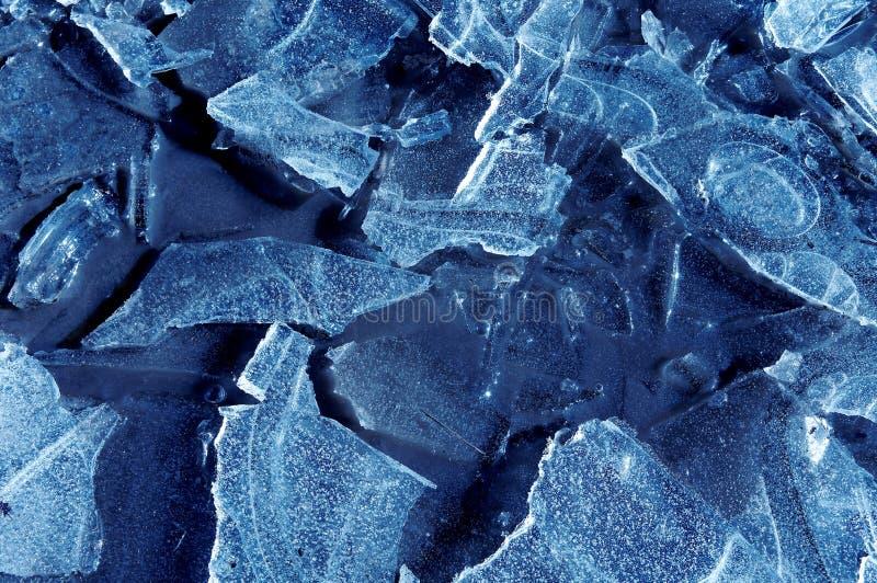 冰碎片 免版税库存照片