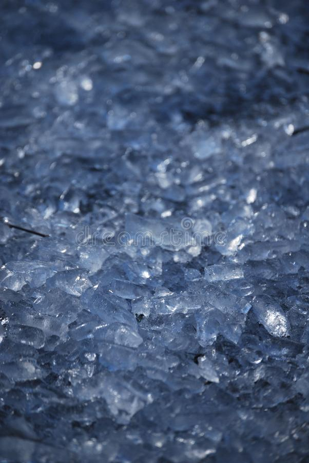冰碎片 库存图片