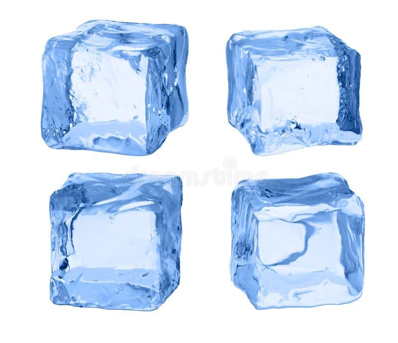 冰立方体在白色背景的 向量例证