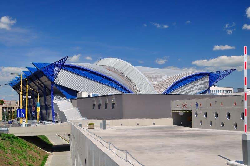 冰竞技场在科希策。斯洛伐克 库存照片