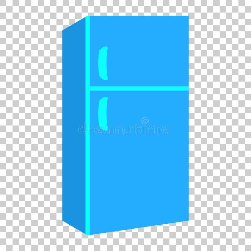 冰箱冰箱在平的样式的传染媒介象 Frig冷冻机illu 皇族释放例证