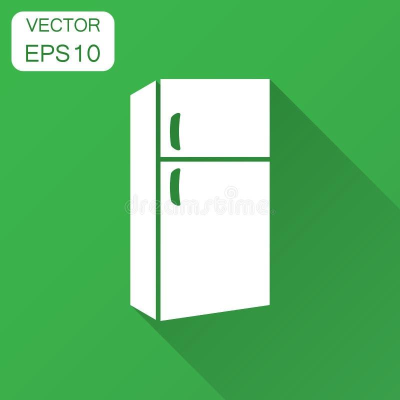 冰箱冰箱在平的样式的传染媒介象 Frig冷冻机illu 向量例证