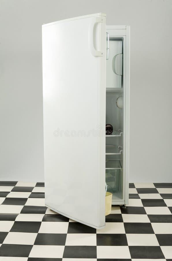 冰箱白色 免版税库存图片