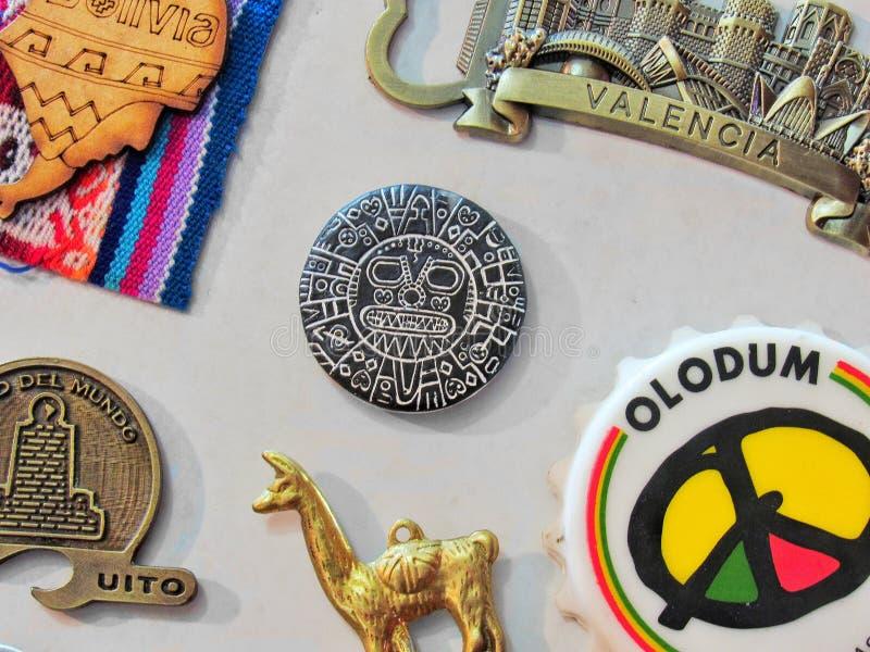 冰箱纪念品的磁铁 免版税库存照片