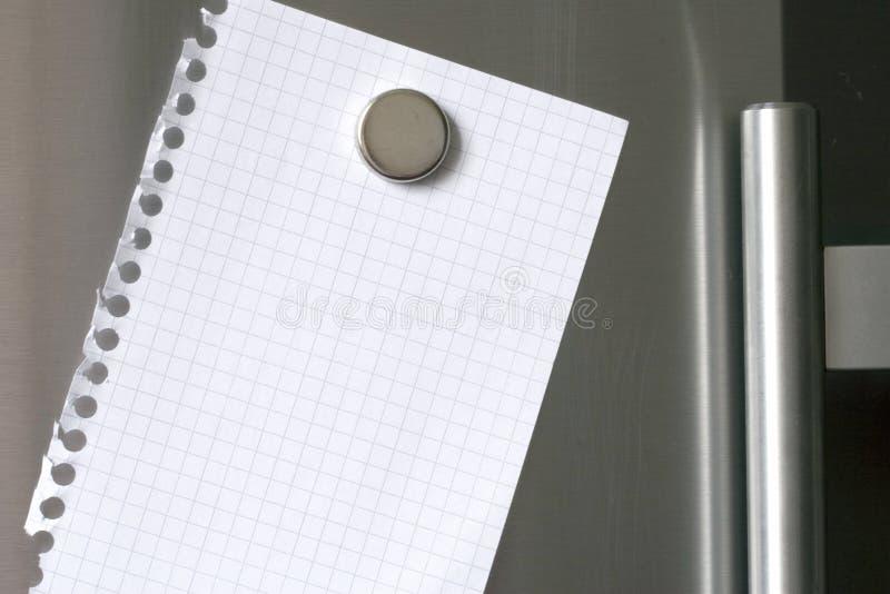 冰箱附注 免版税库存图片