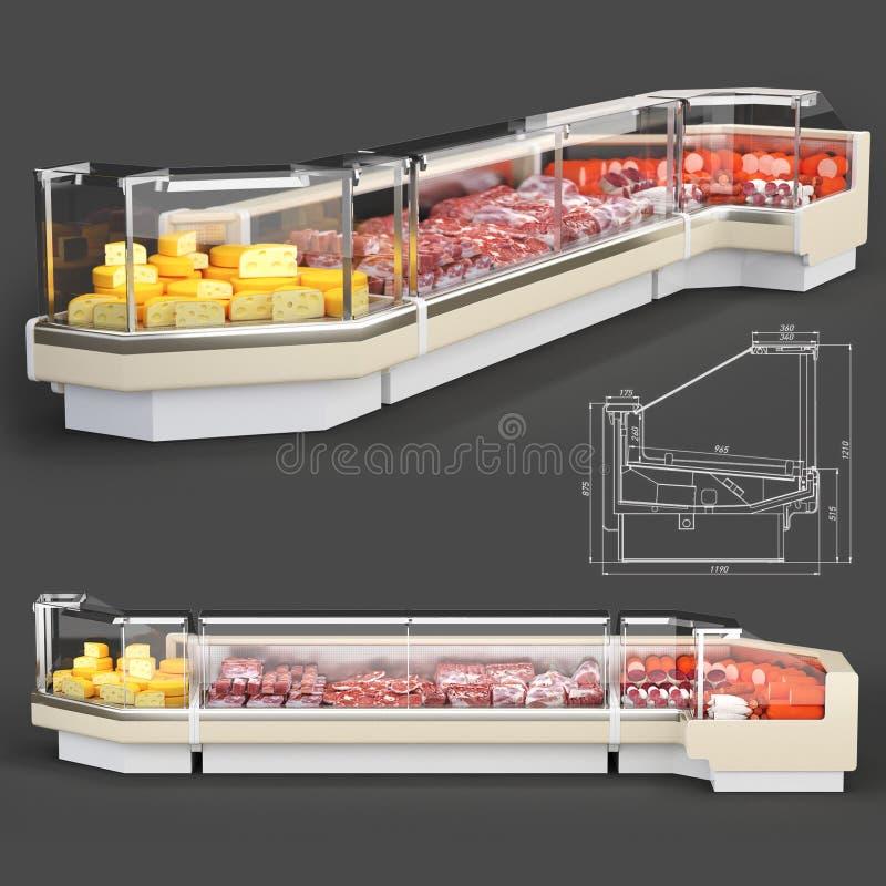 冰箱3D回报 免版税库存照片