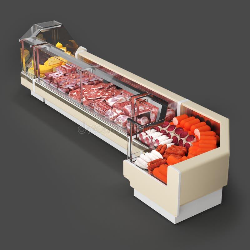 冰箱3D回报 库存照片